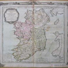 Arte: MAPA DE IRLANDA, 1766. BRION / DESNOS. Lote 49982773