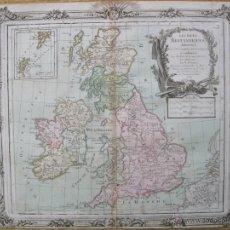 Arte: MAPA DE LAS ISLAS BRITÁNICAS, 1766. BRION/ DESNOS. Lote 49982838