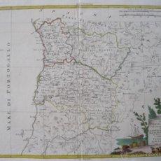 Arte: MAPA DEL NORTE Y CENTRO DE PORTUGAL, 1775. ANTONIO ZATTA. Lote 50054955