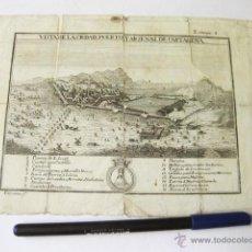 Arte: GRABADO CON LA VISTA DE LA CIUDAD, PUERTO Y ARSENAL DE CARTAGENA. PALOMINO. ATLANTE ESPAÑOL 1778. Lote 50059581