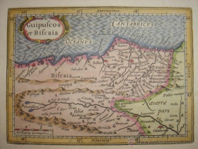 Mapa Guipuzcoa Vizcaya Pais Vasco Original B Sold Through