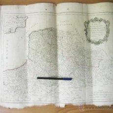 Arte: MAPA GRABADO DE FRANCIA. FLANDRE FRANCOISE 1777. A. VENISE. REMONDINI. ATLAS DE FRANCOIS SANTINI. Lote 50296374