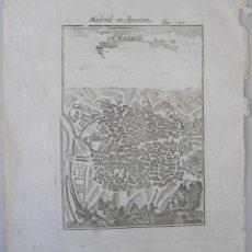 Arte: VISTA DEL PLANO DE LA CIUDAD DE MADRID (ESPAÑA), 1719.MALLET. Lote 50535421