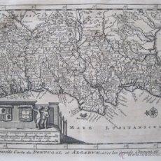 Arte: MAPA DE PORTUGAL Y EL ALGARVE, 1700. COLMENAR. Lote 50665159