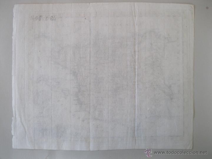 Arte: Mapa de España y Portugal, 1749. Jefferys - Foto 6 - 50677329