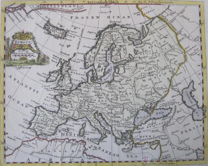 MAPA DE EUROPA, 1749. JEFFERYS (Arte - Cartografía Antigua (hasta S. XIX))