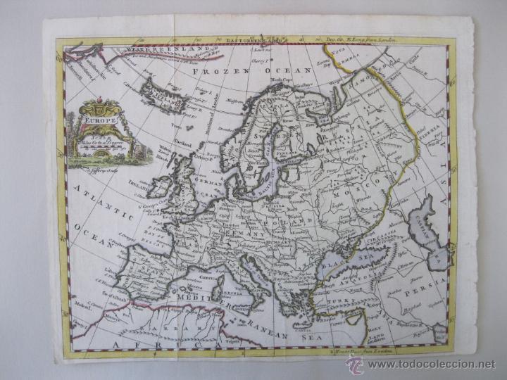 Arte: Mapa de Europa, 1749. Jefferys - Foto 3 - 50702461