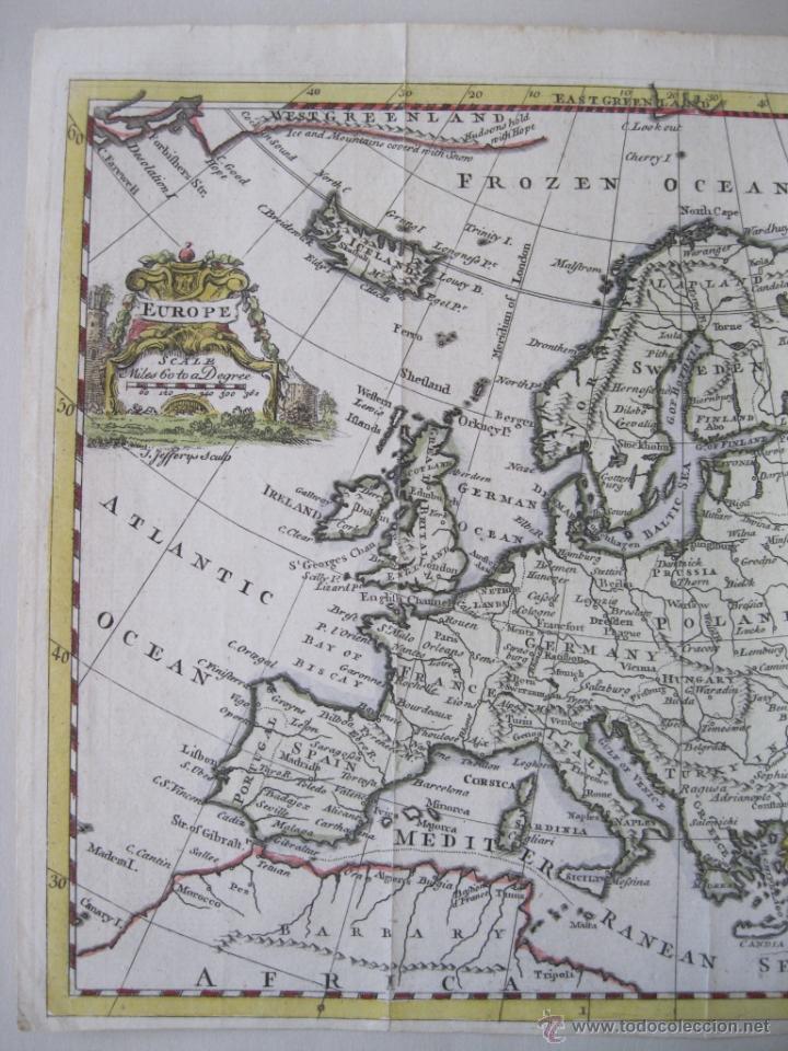 Arte: Mapa de Europa, 1749. Jefferys - Foto 4 - 50702461