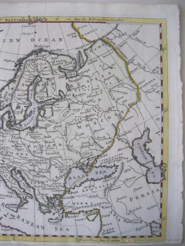Arte: Mapa de Europa, 1749. Jefferys - Foto 5 - 50702461