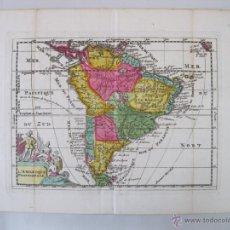 Arte: MAPA DE AMÉRICA DEL SUR, 1747. DE LA FEUILLE. Lote 50733554