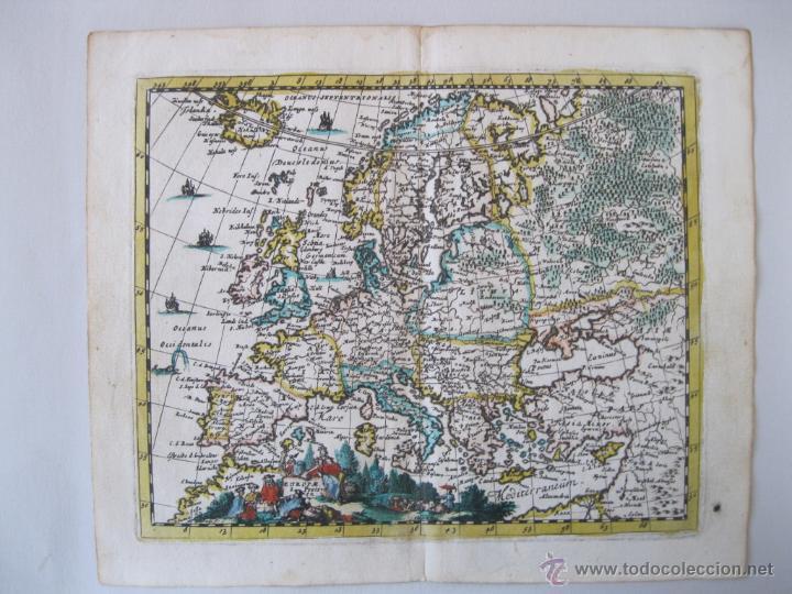 MAPA DE EUROPA, 1685. PEETERS (Arte - Cartografía Antigua (hasta S. XIX))