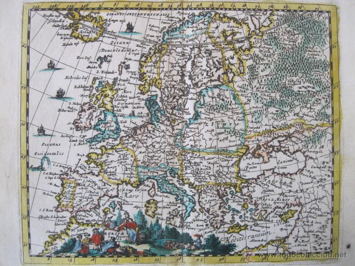 Arte: Mapa de Europa, 1685. Peeters - Foto 2 - 50734076