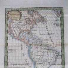 Arte: MAPA DE AMÉRICA DEL NORTE Y SUR, 1769. EXPILLY-BAUCHE. Lote 50797984