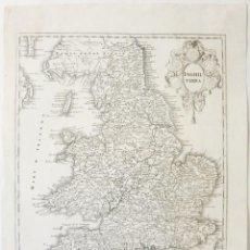 Arte: MAPA DEL REINO UNIDO, 1750. DE L'ISLE. Lote 51036203
