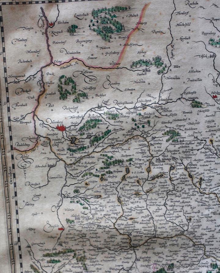 Arte: Palatinado de Baviera (Alemania) Palatinatus Bavariae, siglo XVII. Mapatamaño soporte: 52x64 cm. - Foto 3 - 51099715