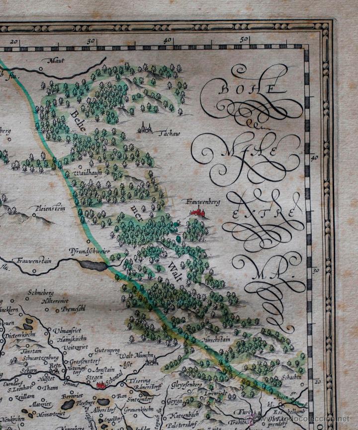 Arte: Palatinado de Baviera (Alemania) Palatinatus Bavariae, siglo XVII. Mapatamaño soporte: 52x64 cm. - Foto 4 - 51099715