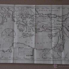 Arte: CARTA GEOGRAPHICA DE LOS VIAGES DE LOS APOSTOLES S. PEDRO Y S. PABLO GRABADO DE 1797 ORIGINAL. Lote 51340596