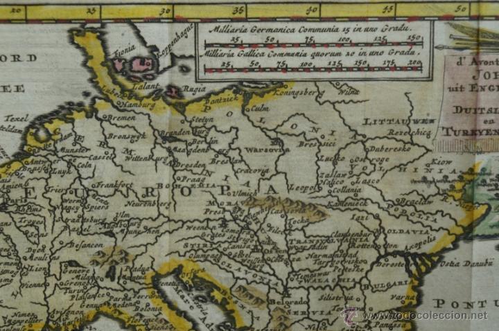 Arte: Mapa de Europa. Las aventuras de Jhon Smith, 1706. Pieter Van der Aa - Foto 4 - 51578959