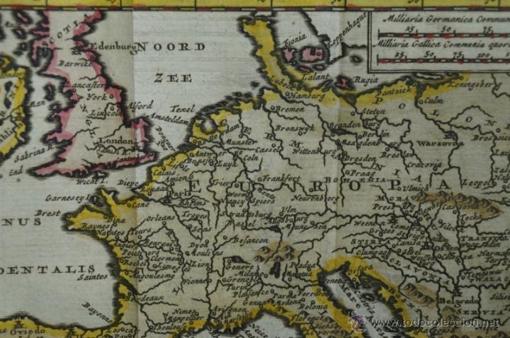 Arte: Mapa de Europa. Las aventuras de Jhon Smith, 1706. Pieter Van der Aa - Foto 5 - 51578959