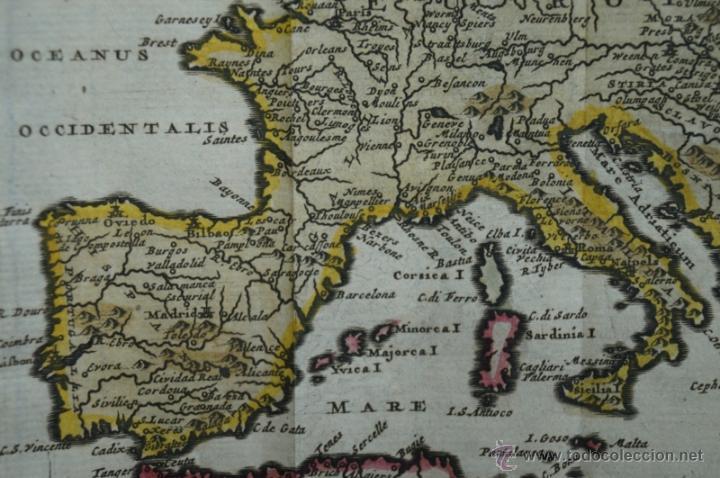 Arte: Mapa de Europa. Las aventuras de Jhon Smith, 1706. Pieter Van der Aa - Foto 7 - 51578959