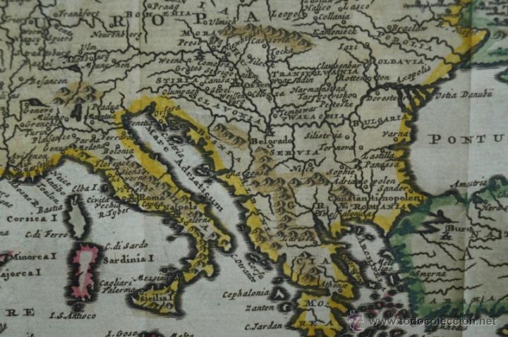Arte: Mapa de Europa. Las aventuras de Jhon Smith, 1706. Pieter Van der Aa - Foto 8 - 51578959
