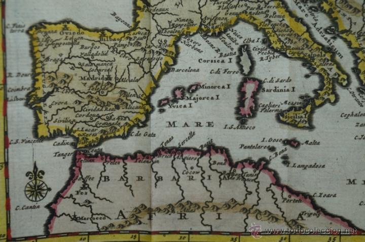 Arte: Mapa de Europa. Las aventuras de Jhon Smith, 1706. Pieter Van der Aa - Foto 11 - 51578959
