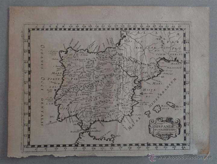 Arte: Mapa de España y Portugal, 1648. Philippe Briet - Foto 2 - 51655615