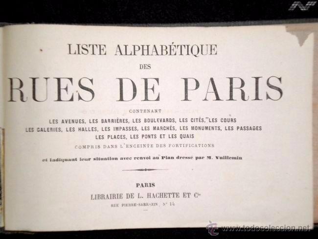 Arte: Plano antiguo París Mapa de París año 1870 con certif. autenticidad. Mapas antiguos París Planos - Foto 2 - 52735056
