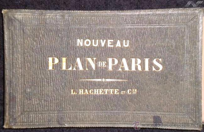 Arte: Plano antiguo París Mapa de París año 1870 con certif. autenticidad. Mapas antiguos París Planos - Foto 3 - 52735056