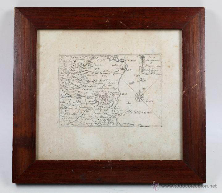 CARTE DU GOUVERNEMENT DE PERPIGNAN, GRABADO ANTIGUO, MARCO: 28X26 CM. (Arte - Cartografía Antigua (hasta S. XIX))