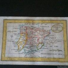 Arte: MAPA DE ESPAÑA ORIGINAL SIGLO XVIII. Lote 52895928