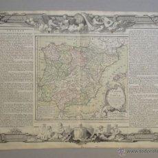 Arte: MAPA DE ESPAÑA Y PORTUGAL, 1786. BRION DE LA TOUR. Lote 53102393