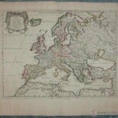 Arte: MAPA DE EUROPA, 1750. SANSON/VAUGONDY. Lote 53103274