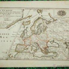 Arte: MAPA DE EUROPA, 1700. NICOLÁS DE FER. Lote 53119084