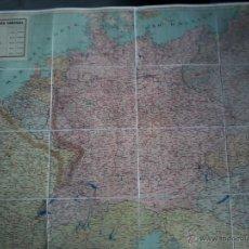 Arte: MAPA DE EUROPA CENTRAL .LINEAS MARGINOT Y SIGFRIDO . CIRCA 1939 . MAPA EN COLOR GRAN FORMATO.. Lote 53201817