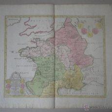 Arte: MAPA DE FRANCIA Y BÉLGICA ANTIGUOS,1720. C. WEIGEL. Lote 53244263
