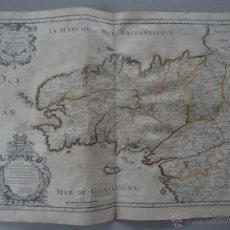 Arte: GRAN MAPA DE BRETAÑA (FRANCIA), 1650. N. SANSON. Lote 53369551