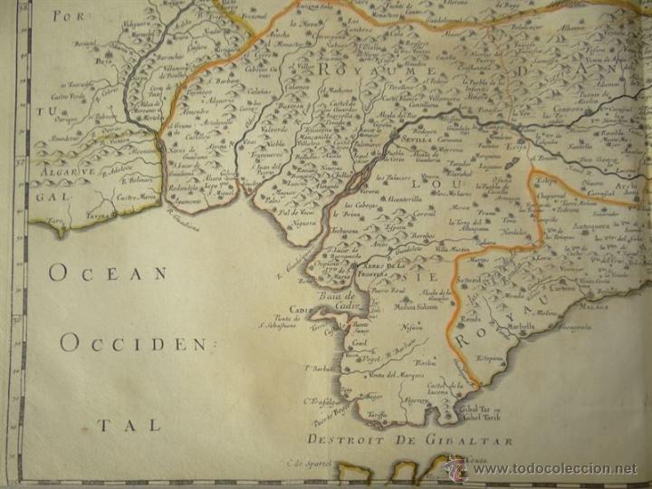 Arte: Gran mapa de Castilla, Valencia, Murcia y Andalucía (España), 1652. Sanson/Mariette - Foto 4 - 53372034