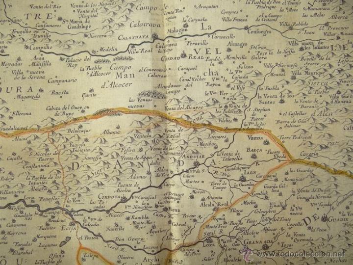 Arte: Gran mapa de Castilla, Valencia, Murcia y Andalucía (España), 1652. Sanson/Mariette - Foto 6 - 53372034