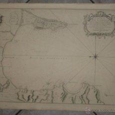 Arte: GRAN CARTA NÁUTICA DE LA BAHÍA DE GIBRALTAR (ESPAÑA), 1762. J. N. BELLIN. Lote 53430714