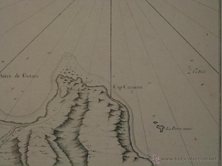Arte: Gran carta náutica de la bahía de Gibraltar (España), 1762. J. N. Bellin - Foto 9 - 53430714