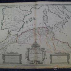 Arte: MAPA DEL NORTE DE ÁFRICA Y ESPAÑA, 1700. G. DE L'ISLE. Lote 53432457