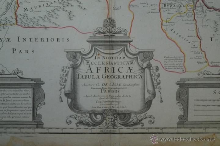 Arte: Mapa del norte de África y España, 1700. G. De LIsle - Foto 3 - 53432457