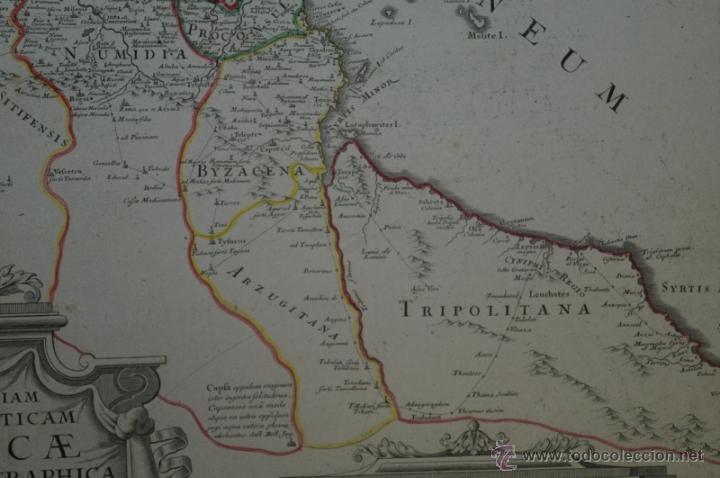 Arte: Mapa del norte de África y España, 1700. G. De LIsle - Foto 4 - 53432457