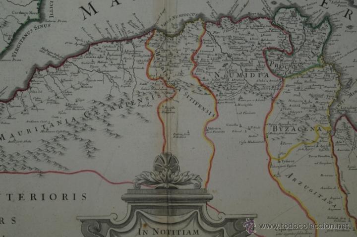 Arte: Mapa del norte de África y España, 1700. G. De LIsle - Foto 5 - 53432457