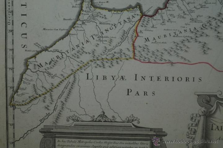 Arte: Mapa del norte de África y España, 1700. G. De LIsle - Foto 6 - 53432457