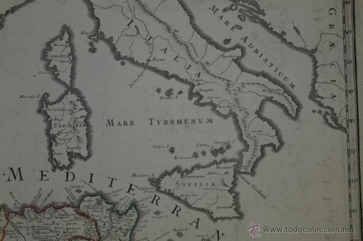 Arte: Mapa del norte de África y España, 1700. G. De LIsle - Foto 12 - 53432457
