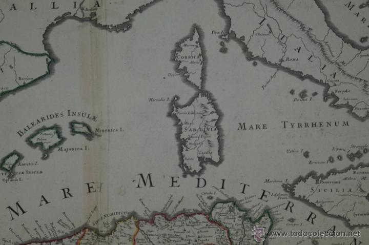 Arte: Mapa del norte de África y España, 1700. G. De LIsle - Foto 13 - 53432457