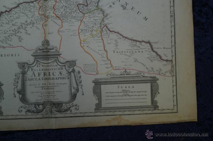 Arte: Mapa del norte de África y España, 1700. G. De LIsle - Foto 15 - 53432457