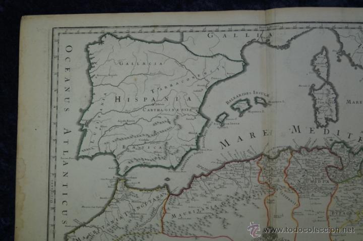 Arte: Mapa del norte de África y España, 1700. G. De LIsle - Foto 18 - 53432457
